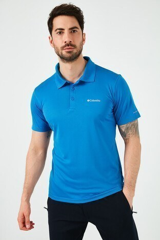 Columbia - Columbia Düğmeli T Shirt Erkek Polo AM6082-432 MAVİ