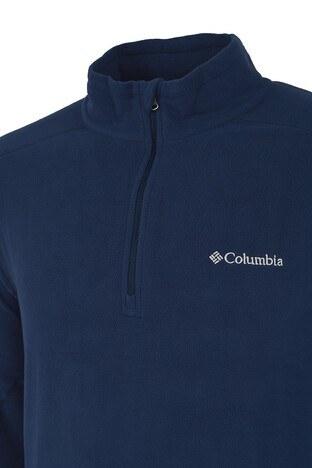 Columbia Fermuarlı Dik Yaka Kışlık Outdoor Erkek Polar 1352471466 MAVİ