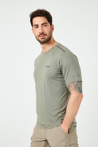 Columbia Marka Logolu Bisiklet Yaka Erkek T Shirt AO0322-397 YEŞİL