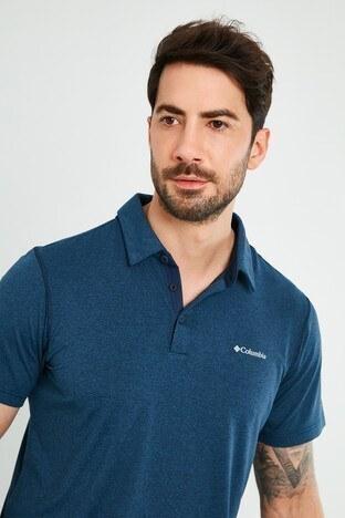 Columbia Marka Logolu Düğmeli T Shirt Erkek Polo AO2933-465 LACİVERT