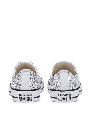 Converse Chuck Taylor Spor Bayan Ayakkabı 170297C 102 Beyaz-Pembe-Siyah