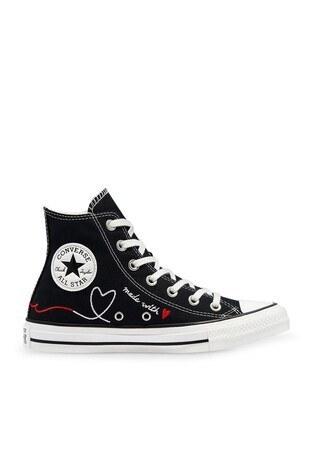 Converse Chuck Taylor Spor Bayan Ayakkabı 171158C 001 Siyah-Beyaz-Krem