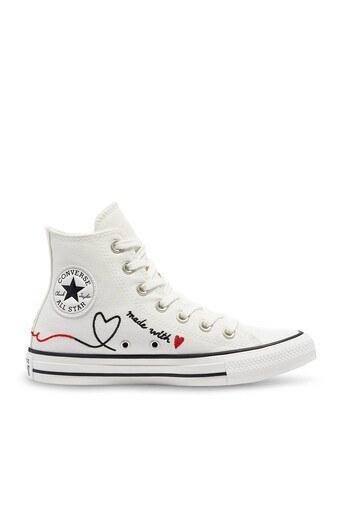 Converse Chuck Taylor Bayan Ayakkabı 171159C 100 Beyaz-Krem-Siyah
