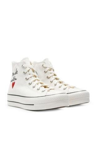 Converse Chuck Taylor Spor Bayan Ayakkabı 571119C 102 Beyaz-Krem-Siyah