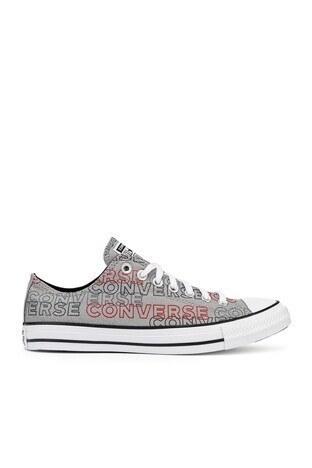 Converse - Converse Chuck Taylor Spor Unisex Ayakkabı 170109C 020 Gri-Beyaz-Siyah