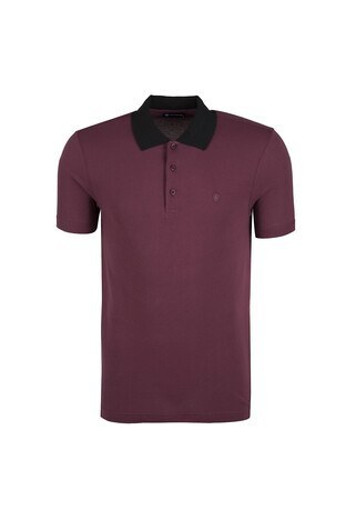 Diandor - DIANDOR T SHIRT Erkek T Shirt 0181817400 BORDO