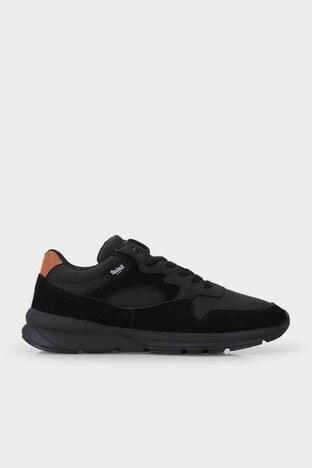 Dockers Shoes - Dockers Bağcıklı Sneaker Erkek Ayakkabı 230170 1FX SİYAH-SİYAH