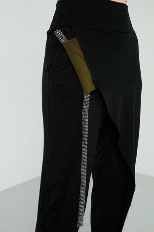 Dqmane Pamuklu Taş Detaylı Bayan Pantolon 429451229 SİYAH