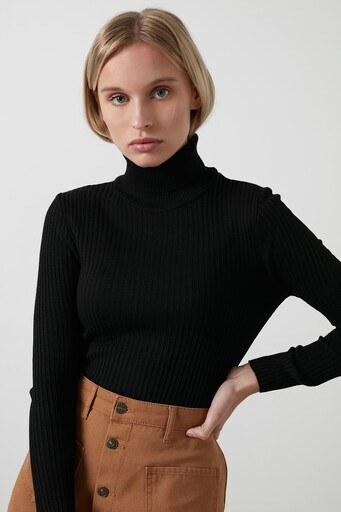 Fashion Friends Bayan Kazak 20K0288B1 SİYAH