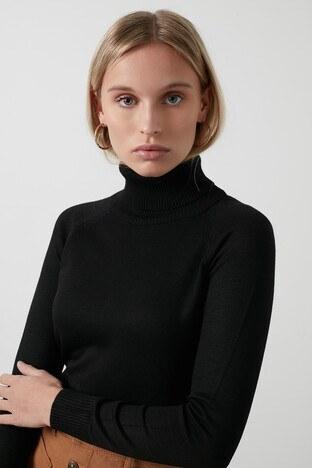 Fashion Friends Balıkçı Yaka Triko Bayan Kazak 20K0401B1 SİYAH