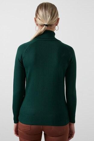 Fashion Friends Balıkçı Yaka Triko Bayan Kazak 20K0401B1 YEŞİL