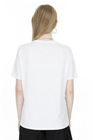 Fashion Friends Baskılı Bayan T Shirt 20Y0785 BEYAZ