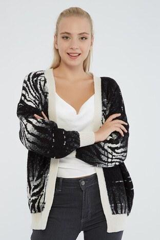 Fashion Friends - Fashion Friends Bayan Hırka 21K0299K1 SİYAH