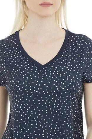 Fashion Friends Bayan T Shirt 9Y0339 LACİVERT