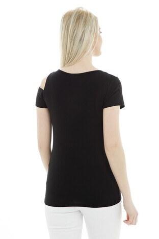 Fashion Friends Bayan T Shirt 9Y1322 SİYAH