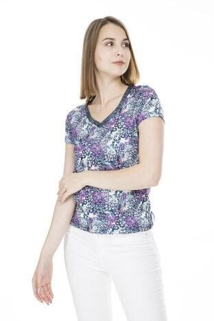 Fashion Friends Bayan T Shirt 9Y1360 LACİVERT