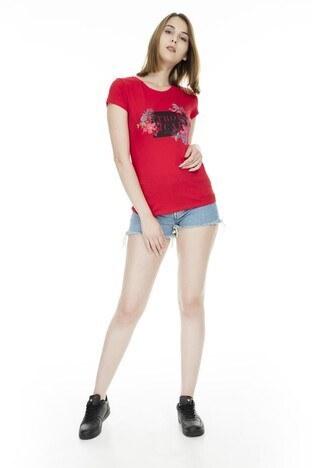 Fashion Friends Bayan T Shirt 9Y1546 KIRMIZI