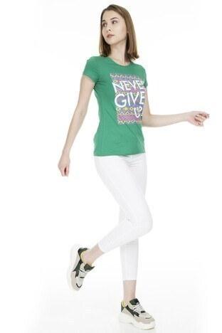 Fashion Friends Bayan T Shirt 9Y1547 YEŞİL