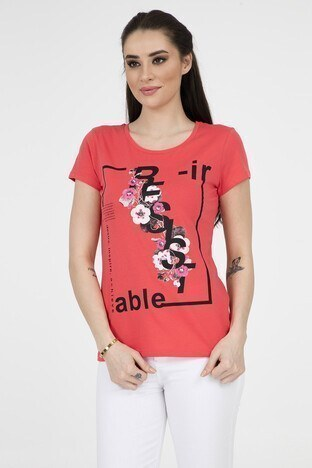 Fashion Friends Bayan T Shirt 9Y1551 KORAL
