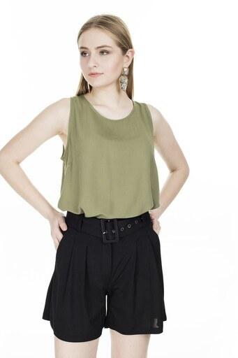 Fashion Friends Bayan Bluz 20Y0098 HAKİ