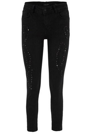 Fashion Friends - Fashion Friends Jeans Bayan Kot Pantolon 8K0507 SİYAH