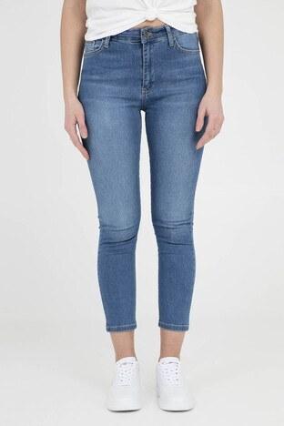 Fashion Friends Jeans Bayan Kot Pantolon 9Y0777 KOYU MAVİ