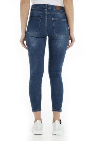 Fashion Friends Jeans Bayan Kot Pantolon 9Y1353 Koyu Mavi