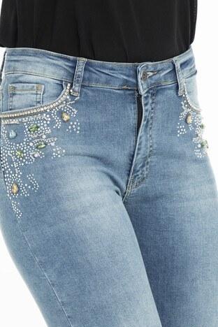 Fashion Friends Jeans Bayan Kot Pantolon 9Y1354 MAVİ