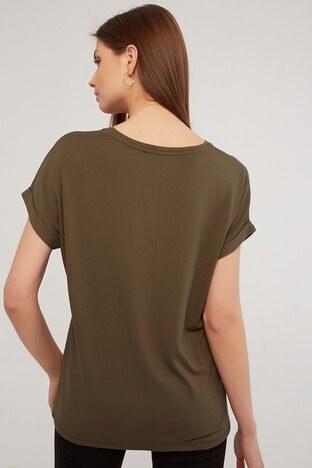 Fashion Friends Bayan T Shirt 21Y0194B1 HAKİ