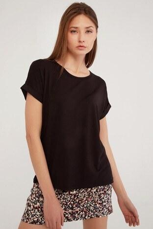 Fashion Friends - Fashion Friends Bayan T Shirt 21Y0194B1 SİYAH