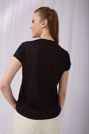 Fashion Friends Bayan T Shirt 21Y0519B1 SİYAH