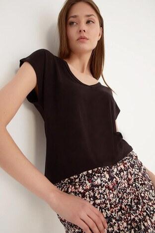 Fashion Friends Bayan T Shirt 21Y0146B1 SİYAH