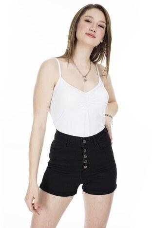 Fashion Friends - Fashion Friends Sırtı Dantel Detaylı Bayan Atlet 20Y0506 BEYAZ
