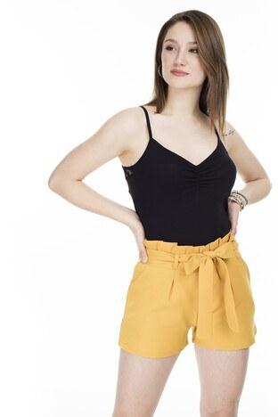 Fashion Friends Sırtı Dantel Detaylı Bayan Atlet 20Y0506 SİYAH