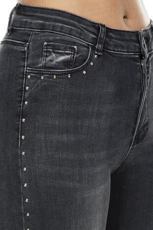 Fashion Friends Skinny Fit Jeans Bayan Kot Pantolon 9K0202 GRİ