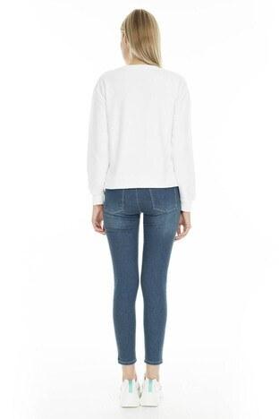 Fashion Friends Skinny Fit Jeans Bayan Kot Pantolon 9K0688 MAVİ