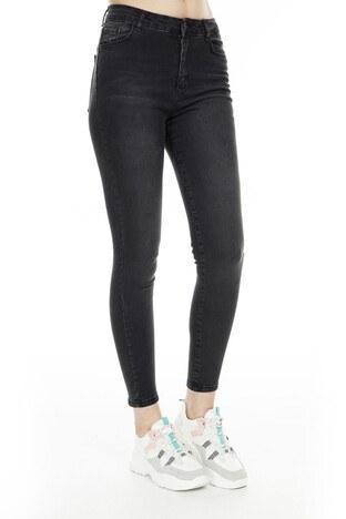 Fashion Friends Skinny Fit Jeans Bayan Kot Pantolon 9K0688 SİYAH