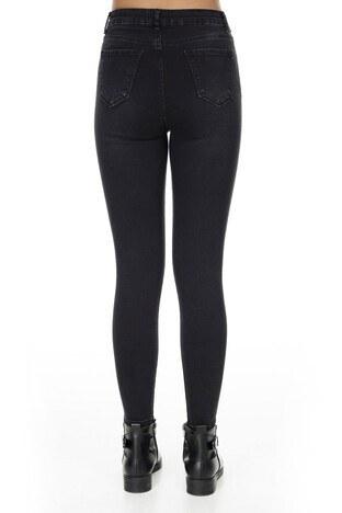 Fashion Friends Skinny Fit Jeans Bayan Kot Pantolon K0334 SİYAH