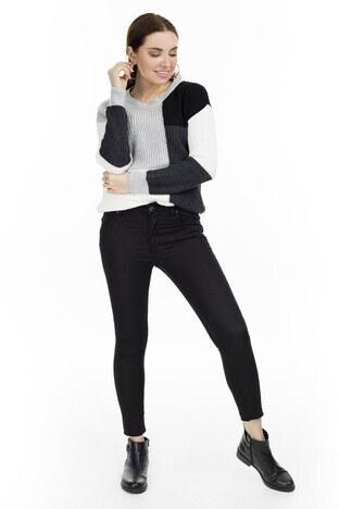 Fashion Friends - Fashion Friends Slim Fit Bayan Pantolon 9K0331 SİYAH