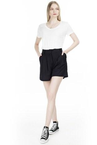 Fashion Friends V Yaka Bayan T Shirt 20Y0050 EKRU