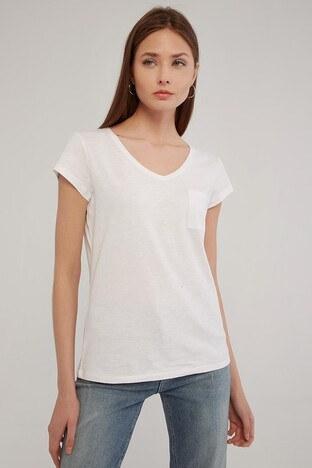 Fashion Friends Bayan T Shirt 21Y0147B1 BEYAZ