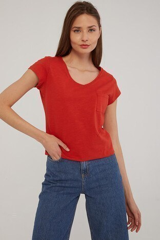 Fashion Friends Bayan T Shirt 21Y0147B1 KİREMİT