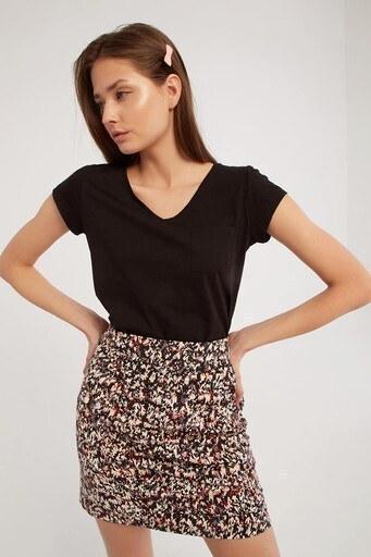 Fashion Friends Bayan T Shirt 21Y0147B1 SİYAH