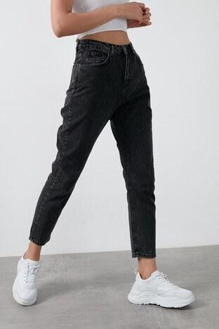 Fashion Friends Yüksek Bel % 100 Pamuk Mom Jeans Bayan Kot Pantolon 20K0082B1 ANTRASİT