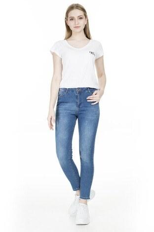 Fashion Friends - Fashion Friends Yüksek Bel Jeans Bayan Kot Pantolon 20Y0565 AÇIK MAVİ