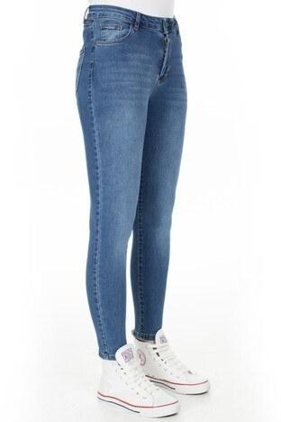 Fashion Friends Yüksek Bel Jeans Bayan Kot Pantolon 20Y0565 MAVİ