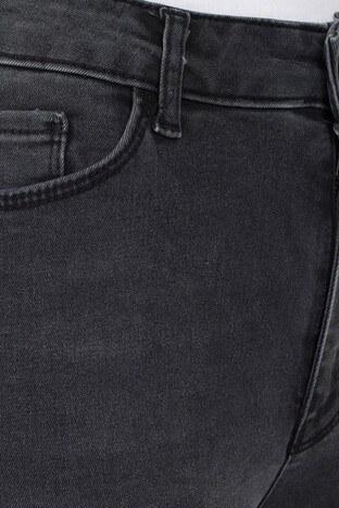 Fashion Friends Yüksek Bel Jeans Bayan Kot Pantolon 20Y0946 KOYU GRİ