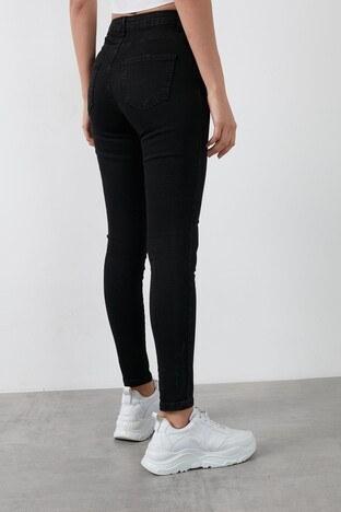 Fashion Friends Yüksek Bel Skinny Pamuklu Jeans Bayan Kot Pantolon 20K0162B1 SİYAH