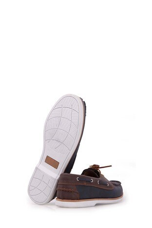Feet Class Erkek Ayakkabı 3135BARCA LACİVERT-KAHVE