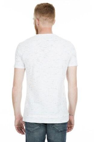 Five Pocket 5 Bisiklet Yaka Erkek T Shirt 8094 BEYAZ
